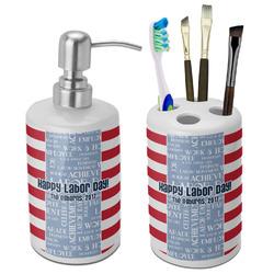 Labor Day Bathroom Accessories Set (Ceramic) (Personalized)