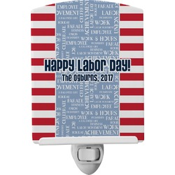 Labor Day Ceramic Night Light (Personalized)