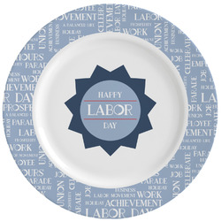 Labor Day Ceramic Dinner Plates (Set of 4) (Personalized)