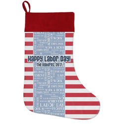 Labor Day Holiday Stocking w/ Name or Text
