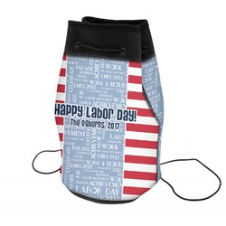 Labor Day Neoprene Drawstring Backpack (Personalized)