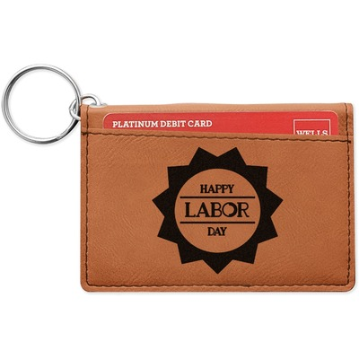 Labor Day Leatherette Keychain ID Holder (Personalized)