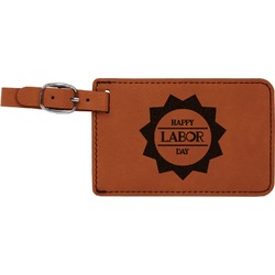 Labor Day Leatherette Luggage Tag (Personalized)