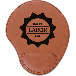 Labor Day Leatherette Mouse Pad with Wrist Support (Personalized)
