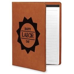 Labor Day Leatherette Portfolio with Notepad (Personalized)