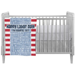 Labor Day Crib Comforter / Quilt (Personalized)