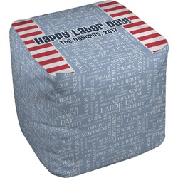 Labor Day Cube Pouf Ottoman (Personalized)