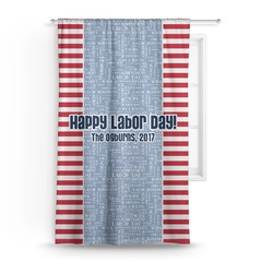 Labor Day Curtain (Personalized)