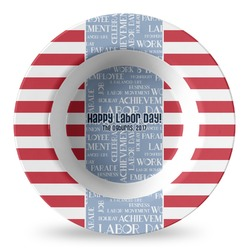 Labor Day Plastic Bowl - Microwave Safe - Composite Polymer (Personalized)