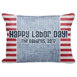"Labor Day Decorative Baby Pillowcase - 16""x12"" (Personalized)"