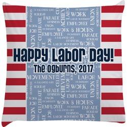 Labor Day Decorative Pillow Case (Personalized)