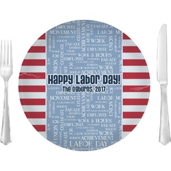 """Labor Day 10"""" Glass Lunch / Dinner Plates - Single or Set (Personalized)"""