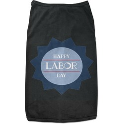 Labor Day Black Pet Shirt - S (Personalized)