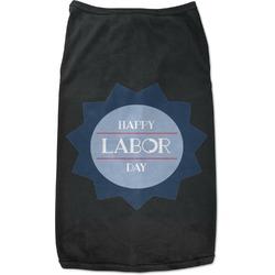 Labor Day Black Pet Shirt - XL (Personalized)