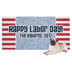 Labor Day Dog Towel (Personalized)