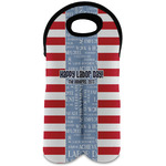 Labor Day Wine Tote Bag (2 Bottles) (Personalized)