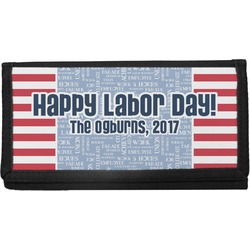 Labor Day Canvas Checkbook Cover (Personalized)