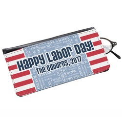 Labor Day Genuine Leather Eyeglass Case (Personalized)