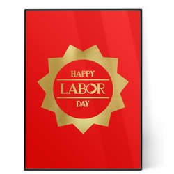 Labor Day 5x7 Red Foil Print (Personalized)