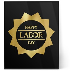 Labor Day 8x10 Foil Wall Art - Black (Personalized)