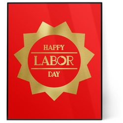 Labor Day 8x10 Foil Wall Art - Red (Personalized)
