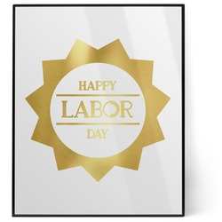 Labor Day 8x10 Foil Wall Art - White (Personalized)