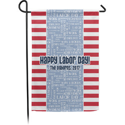 Labor Day Garden Flag - Single or Double Sided (Personalized)