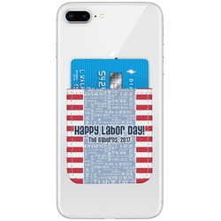 Labor Day Genuine Leather Adhesive Phone Wallet (Personalized)