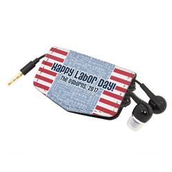 Labor Day Genuine Leather Cord Wrap (Personalized)