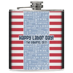Labor Day Genuine Leather Flask (Personalized)