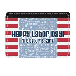 Labor Day Genuine Leather Front Pocket Wallet (Personalized)