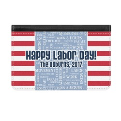 Labor Day Genuine Leather ID & Card Wallet - Slim Style (Personalized)