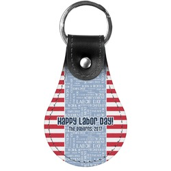 Labor Day Genuine Leather  Keychains (Personalized)
