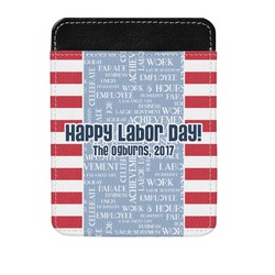 Labor Day Genuine Leather Money Clip (Personalized)