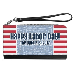 Labor Day Genuine Leather Smartphone Wrist Wallet (Personalized)