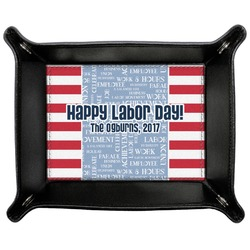 Labor Day Genuine Leather Valet Tray (Personalized)