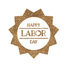 Labor Day Glitter Iron On Transfer- Custom Sized (Personalized)
