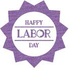Labor Day Glitter Sticker Decal - Custom Sized (Personalized)
