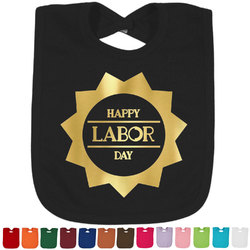 Labor Day Foil Baby Bibs (Select Foil Color) (Personalized)