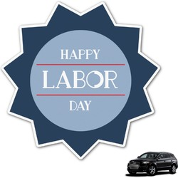 Labor Day Graphic Car Decal (Personalized)