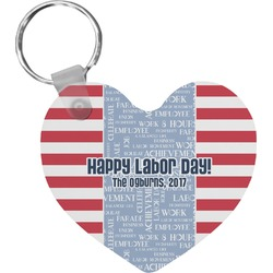 Labor Day Heart Keychain (Personalized)