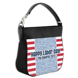 Labor Day Hobo Purse w/ Genuine Leather Trim (Personalized)