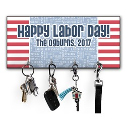 Labor Day Key Hanger w/ 4 Hooks w/ Name or Text