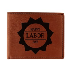 Labor Day Leatherette Bifold Wallet (Personalized)