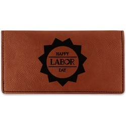 Labor Day Leatherette Checkbook Holder (Personalized)