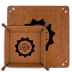 Labor Day Faux Leather Valet Tray (Personalized)