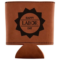 Labor Day Leatherette Can Sleeve (Personalized)