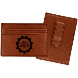 Labor Day Leatherette Wallet with Money Clip (Personalized)