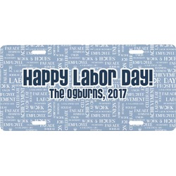 Labor Day Front License Plate (Personalized)