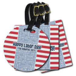 Labor Day Plastic Luggage Tags (Personalized)